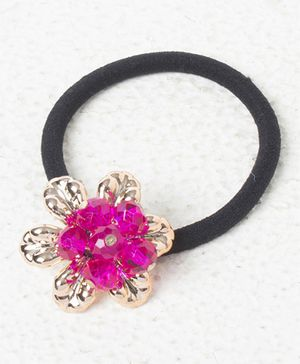 Treasure Trove Pony Crystal Flower Rubber Band - Pink