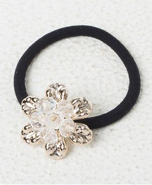 Treasure Trove Pony Crystal Flower Rubber Band - White