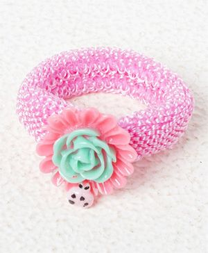 Treasure Trove Rose Pony Tail Holder - Pink