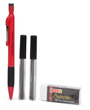 Camlin Pen Pencil Combo Pack 2 mm - Red
