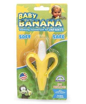 Baby Banana Tooth Brush - White & Yellow