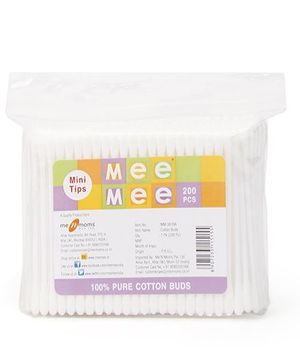 Mee Mee Cotton Ear Buds Mini Tips - 200 Pieces
