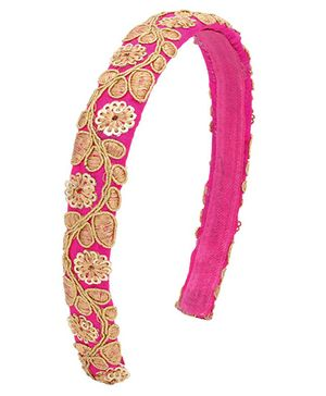 Miss Diva Brocade Tape Hair Band - Pink