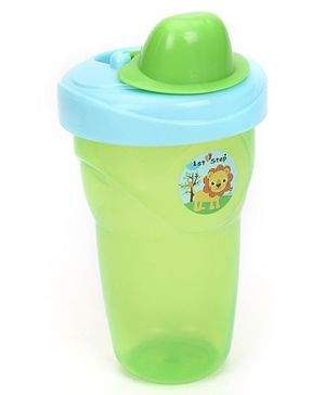 1st Step Non Spill Cup With Lid - Green