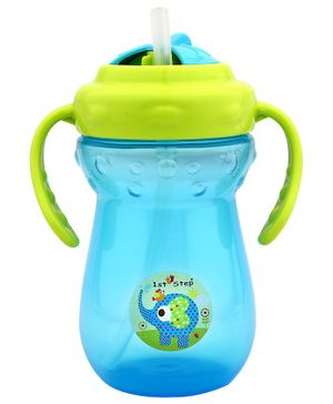 1st Step 2 Handle Cup With Straw Sipper Blue - 350 ml