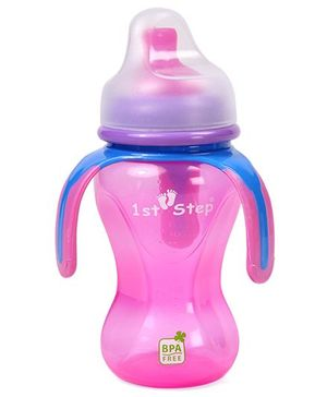 1st Step Soft Spout Sipper With Handle Pink - 270 ml