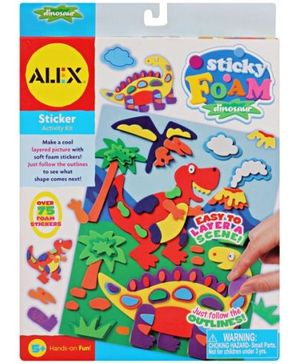 Alex - Sticky Foam Dinosaur Sticker Activity Set