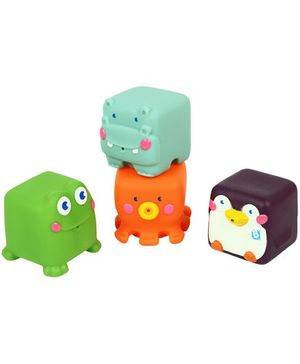 B Kids Stack N Squirt Bath Pals Multicolour - 4 Pieces