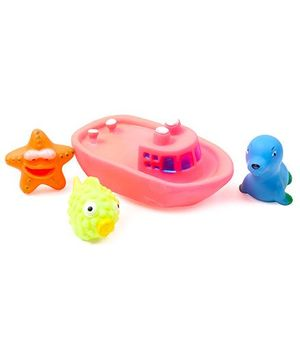 Fab N Funky Bath Toys - Set Of 4