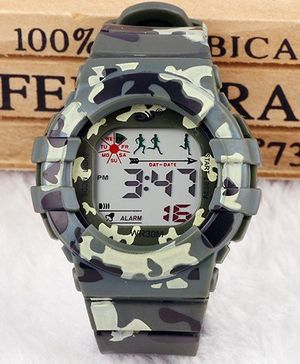 Aakriti Creations Stylish Camoflouge Print Watch - Green