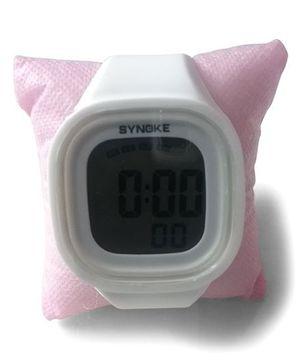 Aakriti Creations Digital Watch With Night Light & Alarm - White