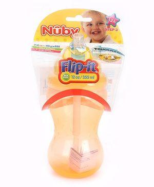 Nuby No Spill Flip It Sipper Orange - 355 ml