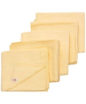 Tinycare Square Cloth Baby Nappy Peach Extra Large - Set of 5