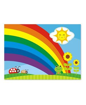 Prettyurparty Rainbow Table Mats Multicolor - Pack Of 6