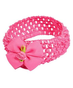 Miss Diva Soft Bow Headband - Magenta