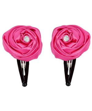 Miss Diva Elegant Diamond Studded Rose Tic Tac Set - Magenta