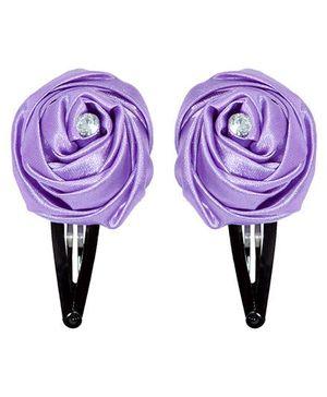 Miss Diva Elegant Diamond Studded Rose Tic Tac Set - Purple
