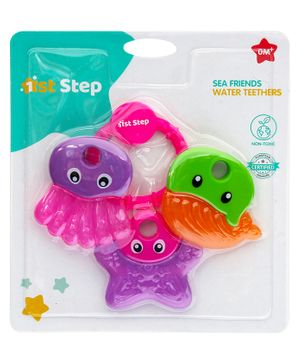1st Step Water Filled Teether Multicolor - Set Of 3