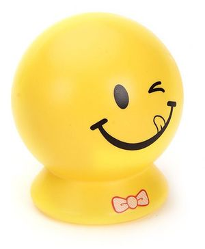 Smiley Printed Coin Bank - Yellow