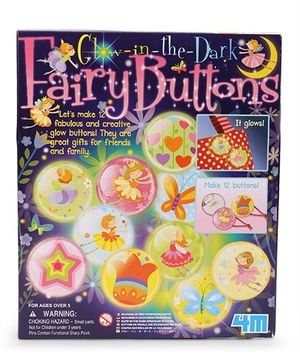 4M Glow In The Dark Fairy Buttons - Multi Color