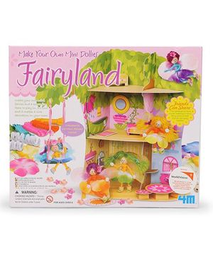4M Make Your Own Mini Dollies FairyLand - Multi color