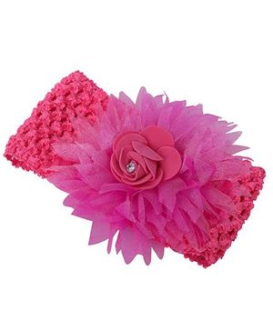 Mauve Collection Latest & Pretty Classic Headband - Dark Pink