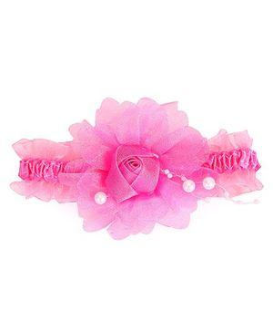 Stol'n Elasticated Rosette Headband - Dark Pink