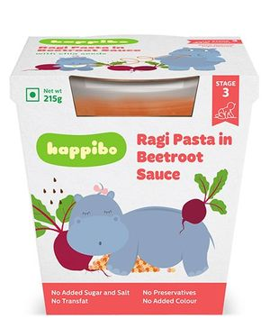 Happibo Ragi Pasta in Red Pepper Sauce Pack Of 2 - 430 gm