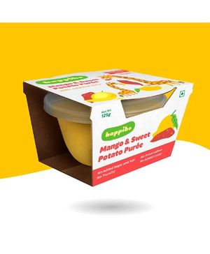 Happibo Mango & Sweet Potato Puree Pack Of 2 - 250 gm