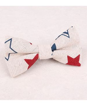 Little Cuddle Star Linen Bow Tie - Red