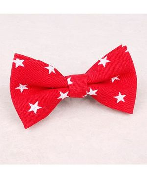 Little Cuddle Star Linen Bow Tie- Red