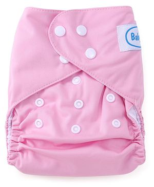 Babyhug Cloth Diaper With One Insert - Light Pink