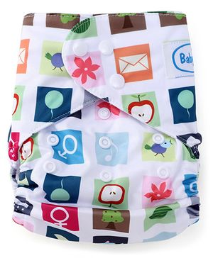 Babyhug Cloth Diaper With One Insert - Multicolor