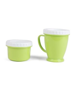 Baby Feeding Cup And Snacks Box - Green