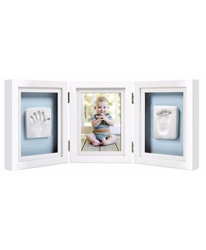 Pearhead Babyprints Deluxe Desk Triple Frame - White