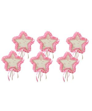 Crack of Dawn Crafts Fairy Wand Birthday Invitations Pink - Pack of 6