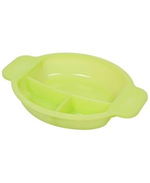 Fab N Funky 3 Section Plate - Green