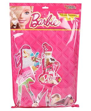 Sticker Bazaar Barbie Stationery Set - 17 Pieces