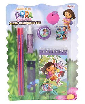 Sticker Bazaar Dora Stationery Set Pack Of 8 - Purple