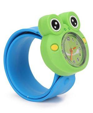 Analog Wrist Watch Frog Shape Dial - Green Orange