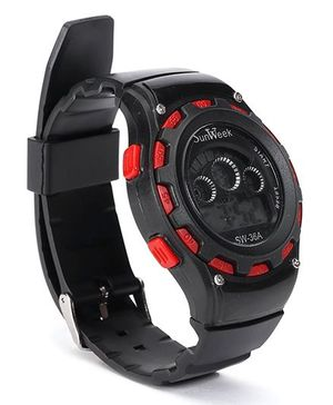 Digital Wrist Watch - Red Black
