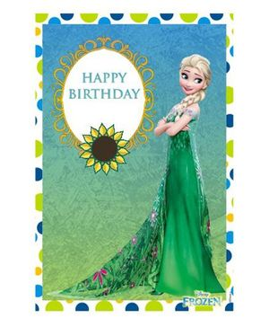 Disney Frozen Fever Vertical Banner 02 - Blue Green