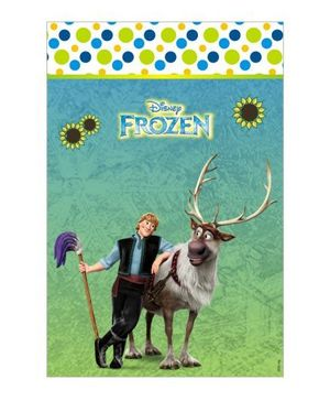 Disney Frozen Fever Vertical Banner 04 - Blue Green