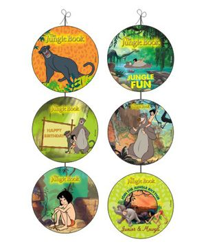 Jungle Book Danglers Pack of 6 - Green Orange