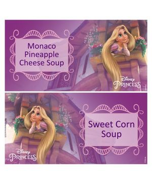 Disney Princess Rapunzel Food Labels Pack of 10 - Purple