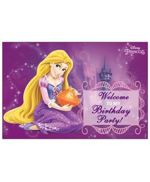 Disney Rapunzel Welcome Banner - Purple