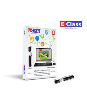 E-Class 1st Standard Semi-English Medium Computer Windows Pen Drive - Three subjects