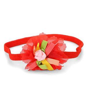 Babyhug Flower Headed Headband - Red