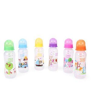 Mee Mee Feeding Bottle Pack of 6 Multi Color - 250 ml