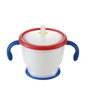Richell Twin Handle Sipper Cup With Lid Blue And Red - 150 ml